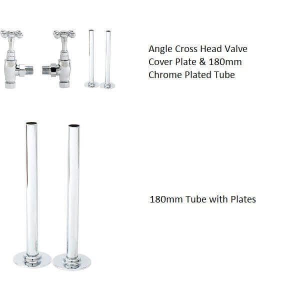 Jupiter Hayle Curved Chrome Vertical Designer Towel Rail
